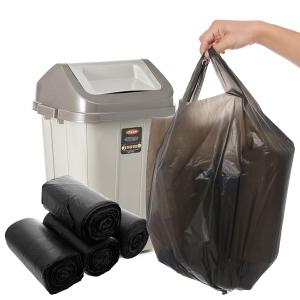 4 cuộn túi rác màu đen có quai Inochi 46x63cm size S (140 túi / 4 cuộn)