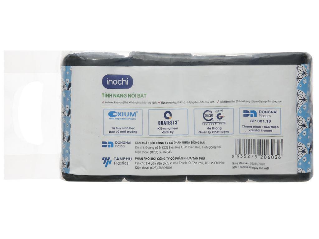 Lốc 4 cuộn túi rác đen quai xách Inochi 46x63cm 2