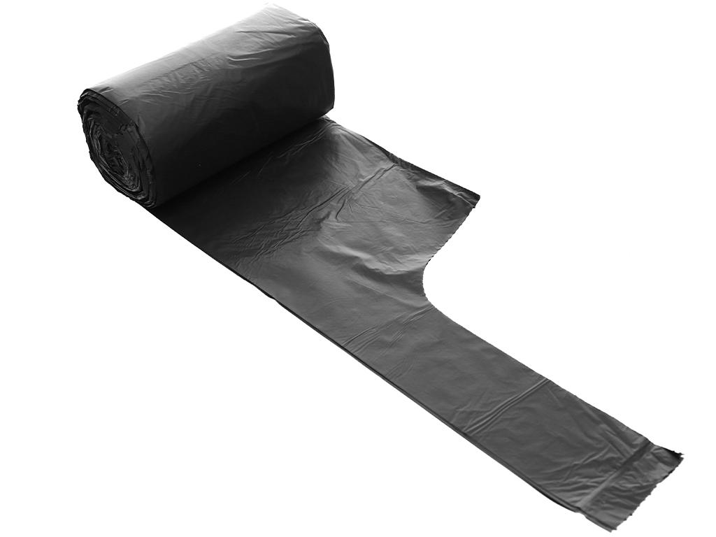 Lốc 4 cuộn túi rác đen quai xách Inochi 46x63cm 4