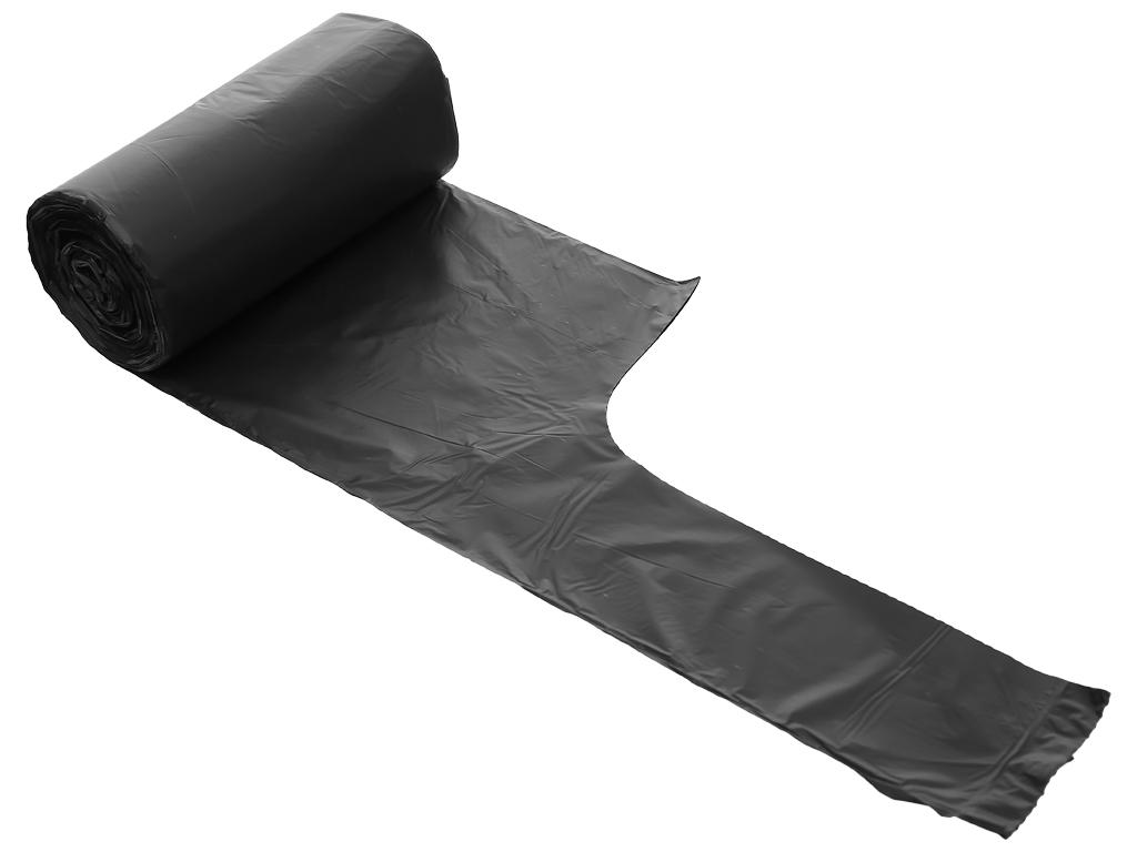 Lốc 4 cuộn túi rác đen quai xách Inochi 54x70cm 4