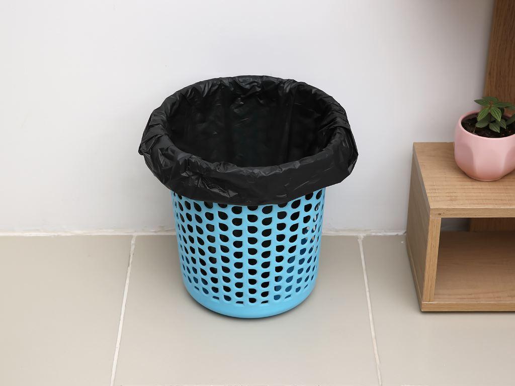 Lốc 4 cuộn túi rác đen quai xách Inochi 54x70cm 6
