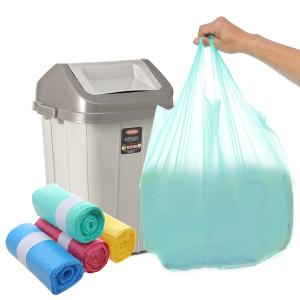 4 cuộn túi rác màu có quai Inochi 54x70cm size M (112 túi / 4 cuộn)