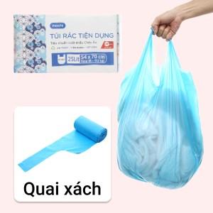 Lốc 4 cuộn túi rác màu quai xách Inochi 54x70cm