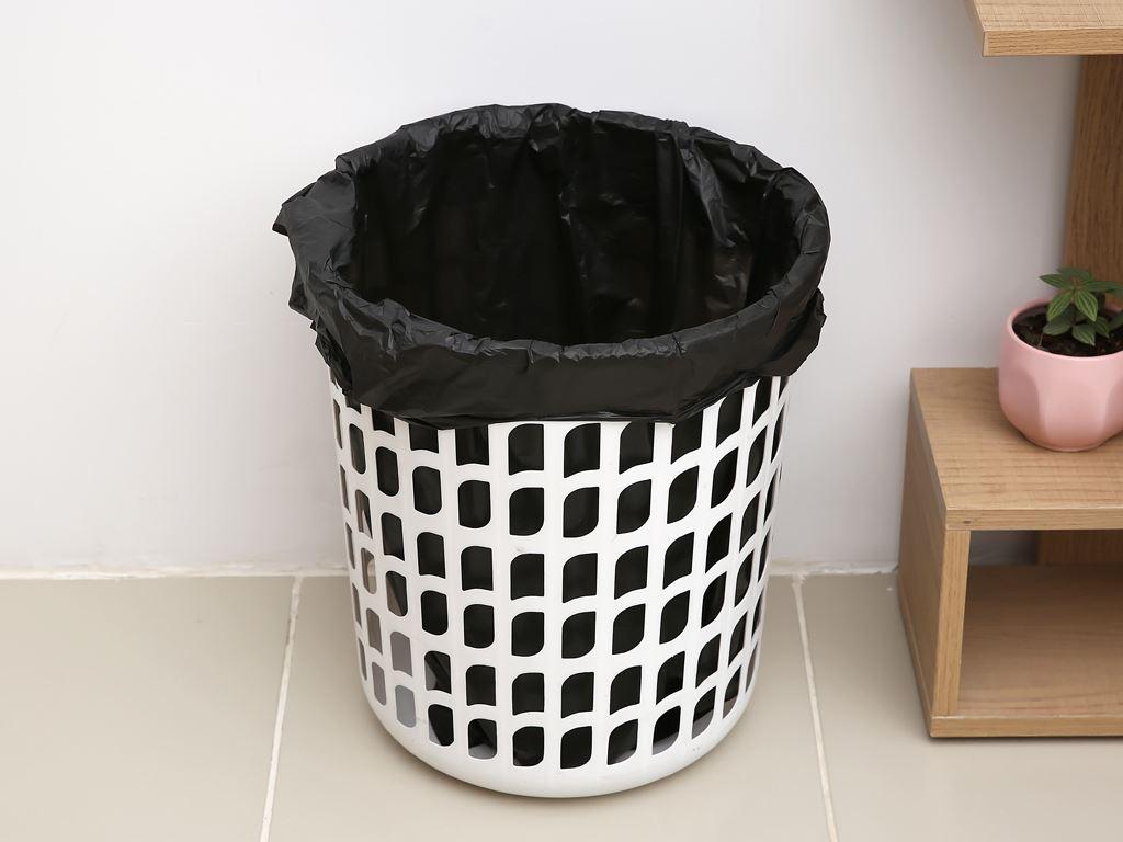 Lốc 4 cuộn túi rác đen quai xách Inochi 60x90cm 7