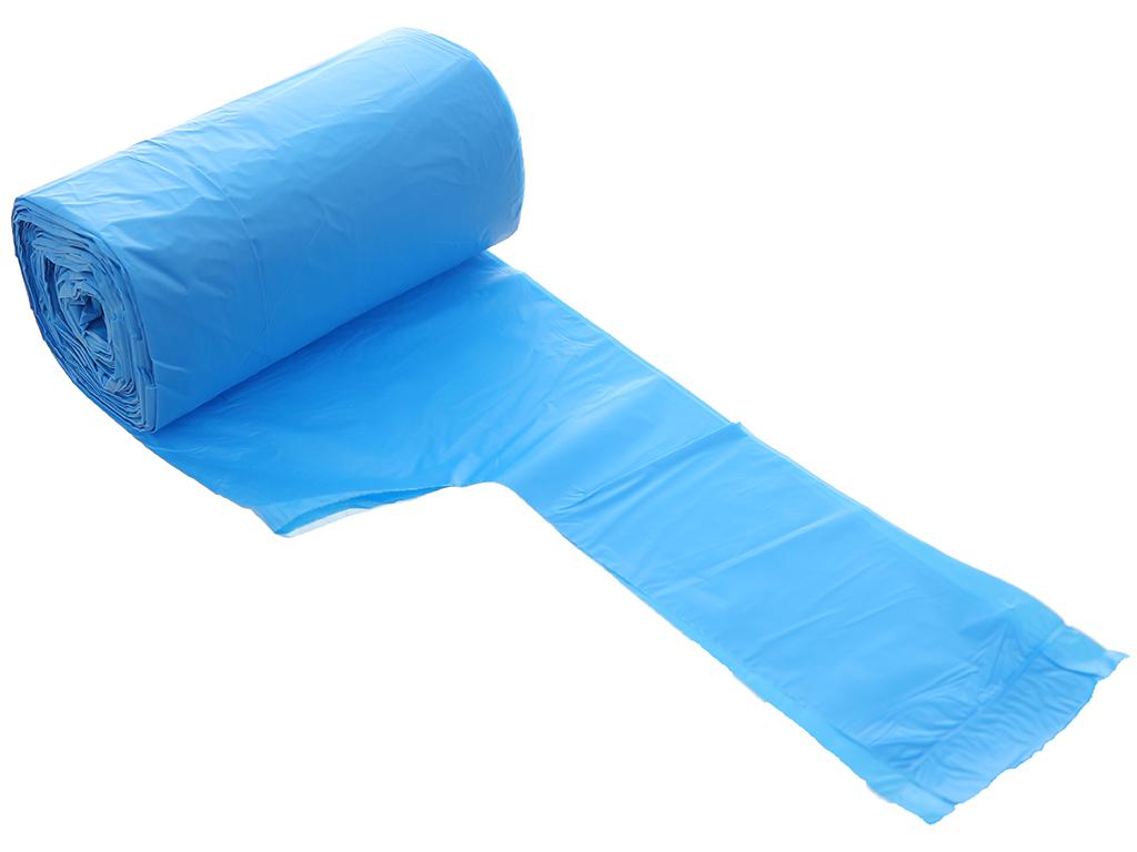 4 cuộn túi rác màu có quai Inochi 46x63cm size S (140 túi / 4 cuộn) 3