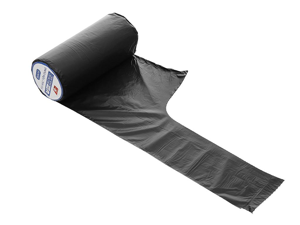 1 cuộn túi rác đen quai xách Inochi 54x70cm 4