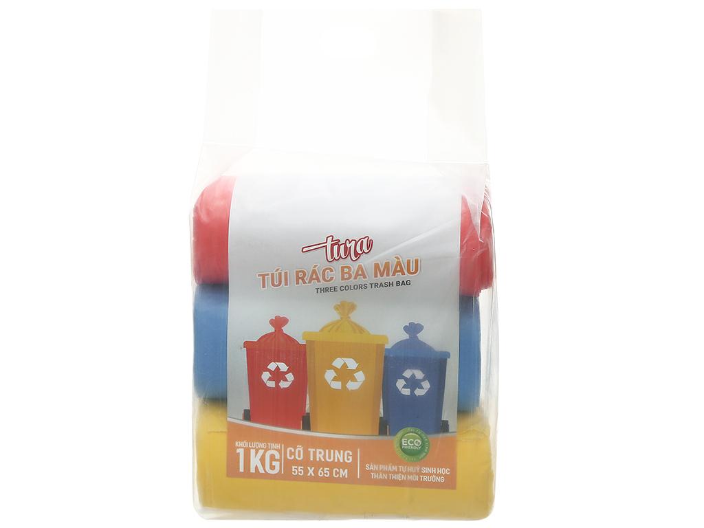 Lốc 3 cuộn túi rác màu tự huỷ sinh học Nam Thái Sơn 55x65cm (1kg) 1