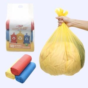 Lốc 3 cuộn túi rác màu tự huỷ sinh học Nam Thái Sơn 55x65cm (1kg)