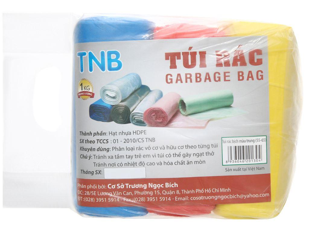 Lốc 3 cuộn túi rác màu Trương Ngọc Bích 55x65cm (1kg) 1