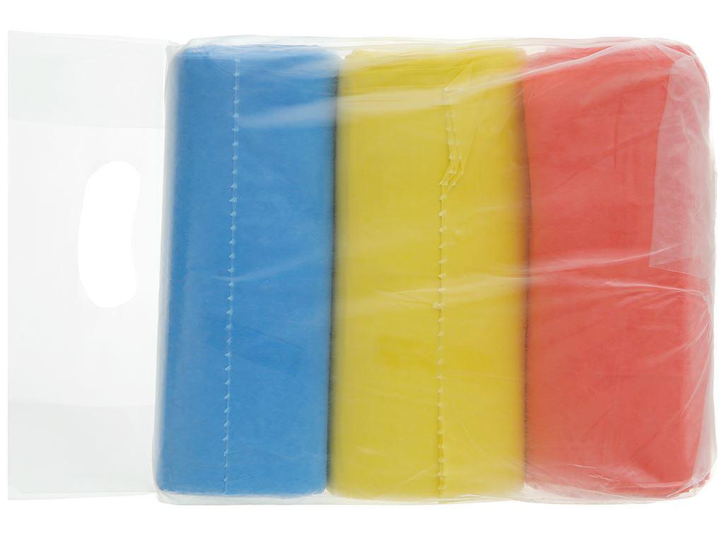 Lốc 3 cuộn túi rác màu Trương Ngọc Bích 55x65cm (1kg) 2