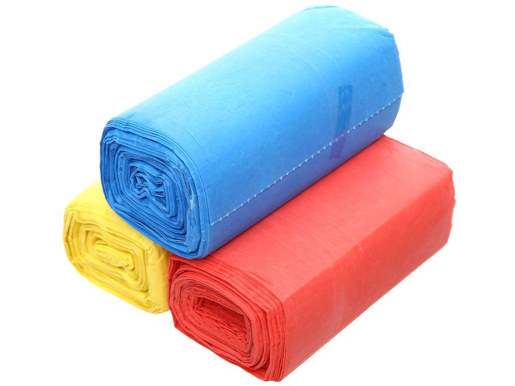 Lốc 3 cuộn túi rác màu Trương Ngọc Bích 55x65cm (1kg) 3