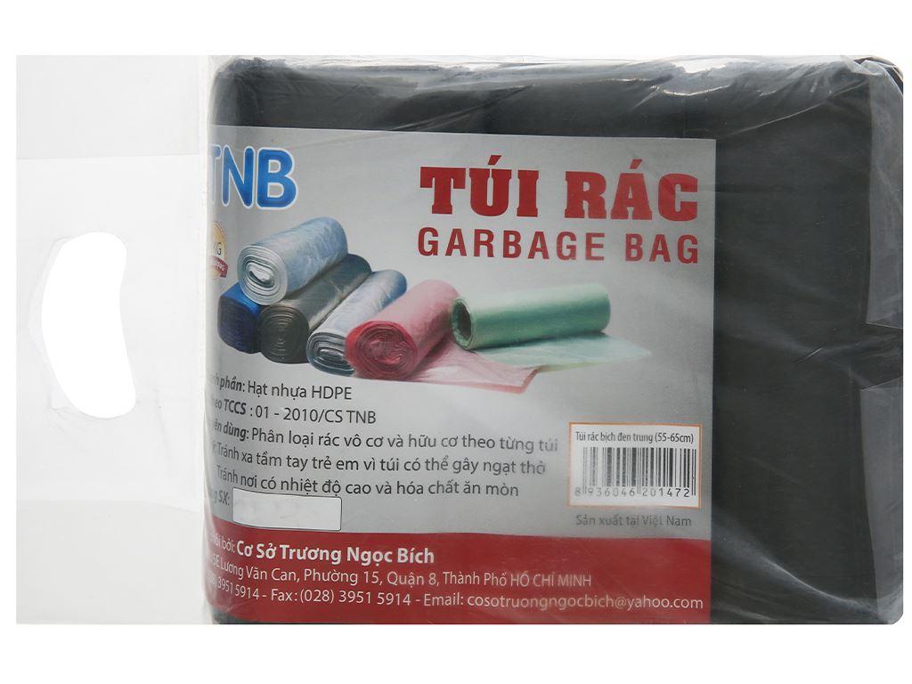 Lốc 3 cuộn túi rác đen Trương Ngọc Bích 55x65cm (1kg) 1