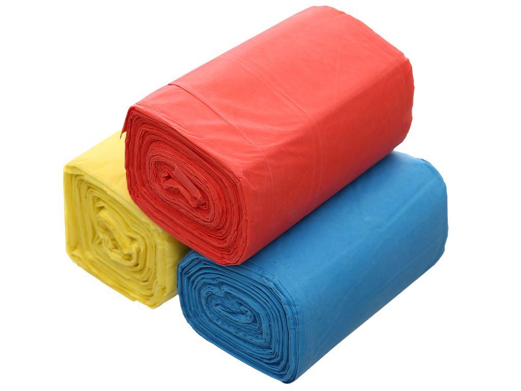 Lốc 3 cuộn túi rác màu Trương Ngọc Bích 44x56cm (1kg) 3