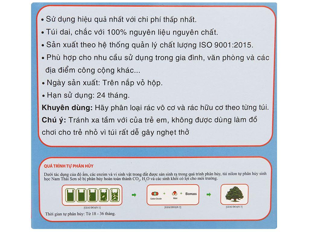 Lốc 3 cuộn túi rác màu Nam Thái Sơn 53x63cm 2