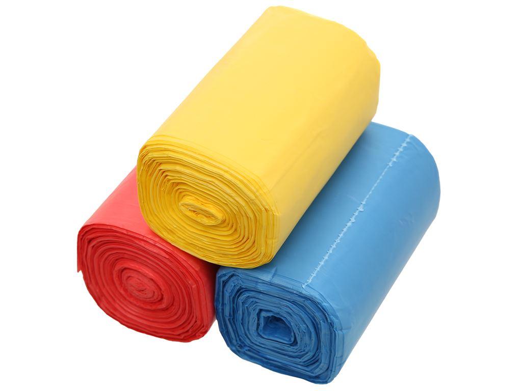 Lốc 3 cuộn túi rác nhiều màu tự huỷ sinh học Bách Hóa XANH 44x56cm (1kg) 3