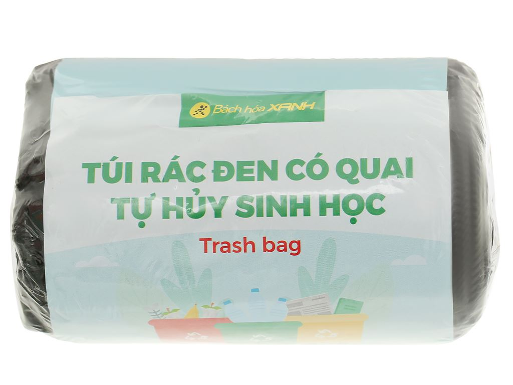 1 cuộn túi rác đen tự huỷ sinh học Bách Hóa XANH 44x56cm (250g) 1