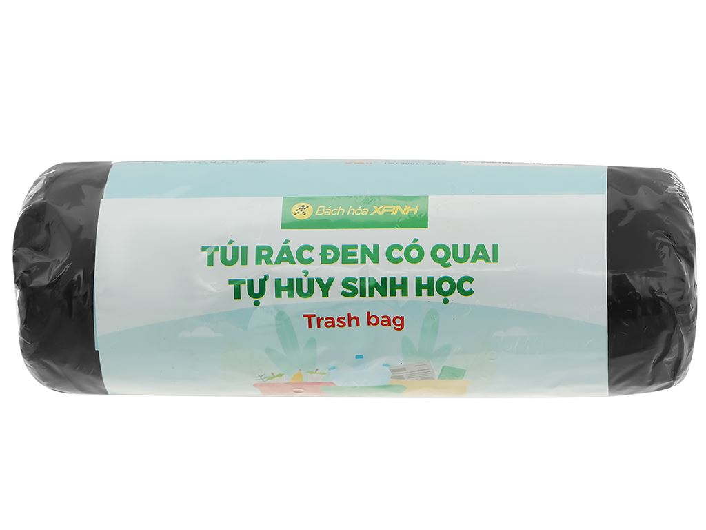 1 cuộn túi rác đen tự huỷ sinh học Bách Hóa XANH 64x78cm (250g) 1