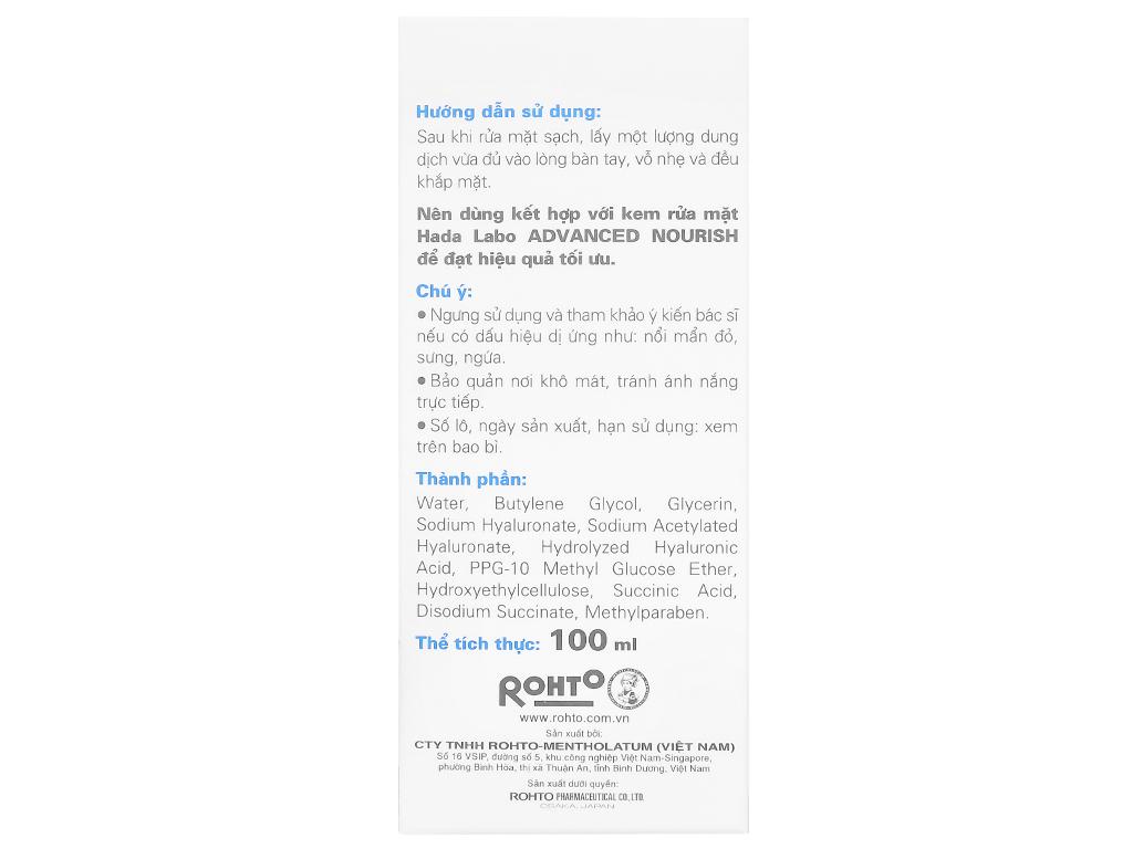 Dung dịch dưỡng ẩm tối ưu Hada Labo Advanced Nourish 100ml 5