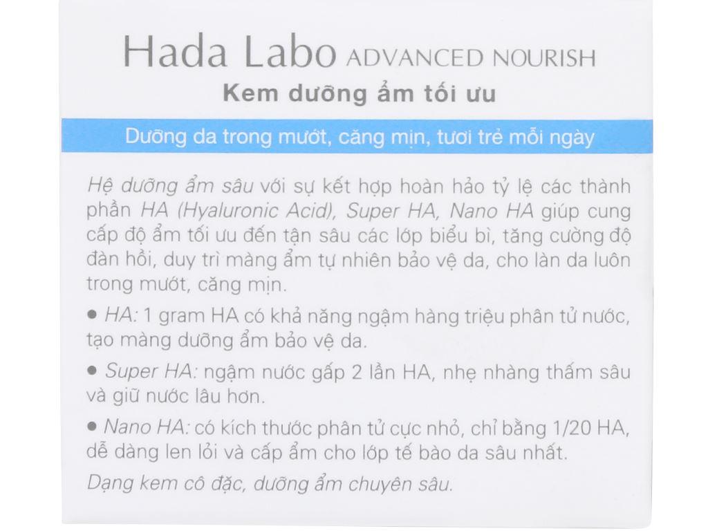 Kem dưỡng ẩm tối ưu Hada Labo Advanced Nourish 50g 8