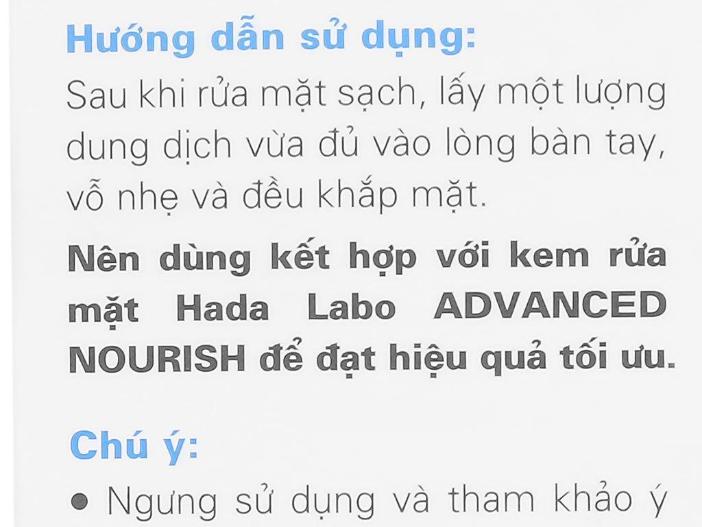 Dung dịch dưỡng ẩm tối ưu Hada Labo Advanced Nourish 170ml 8