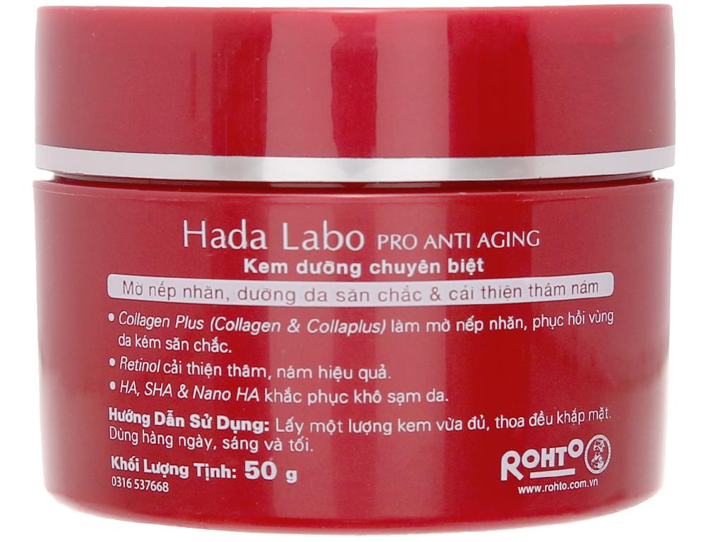 Kem dưỡng chuyên biệt Hada Labo Pro Anti Aging chống lão hóa 50g 6
