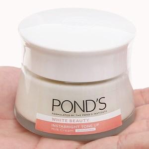 Kem sữa dưỡng da Pond's intabright Tone up milk cream giúp nâng tông sáng mịn hũ 50g