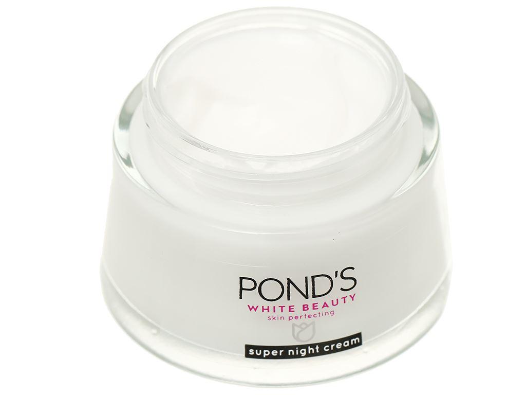 Kem dưỡng da Pond's dưỡng trắng ẩm mịn ban đêm 50g 5