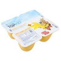 Sữa chua thanh trùng Topkid hương Chuối, Lúa mạch 60g (4 hộp)