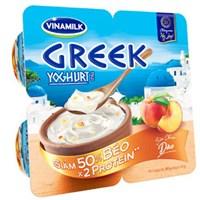 Sữa chua ăn Vinamilk Greek Yoghurt vị Đào 100g  (4 hộp)