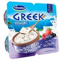 Sữa chua ăn Vinamilk Greek Yoghurt hương Dâu 100g  (4 hộp)