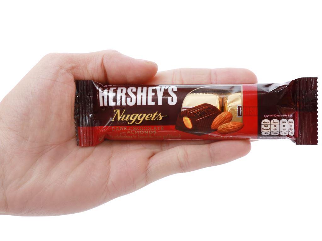 Socola đen nhân hạnh nhân Hershey's Nuggets gói 28g 7
