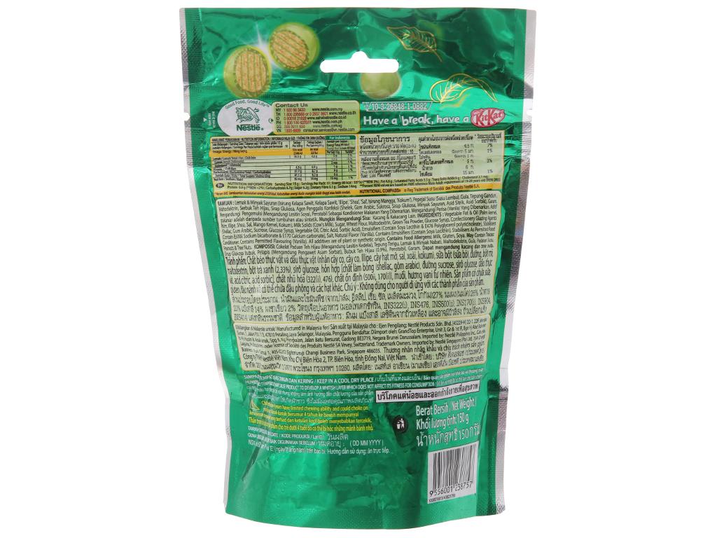 Bánh xốp phủ trà xanh KitKat Bites túi 150g 3