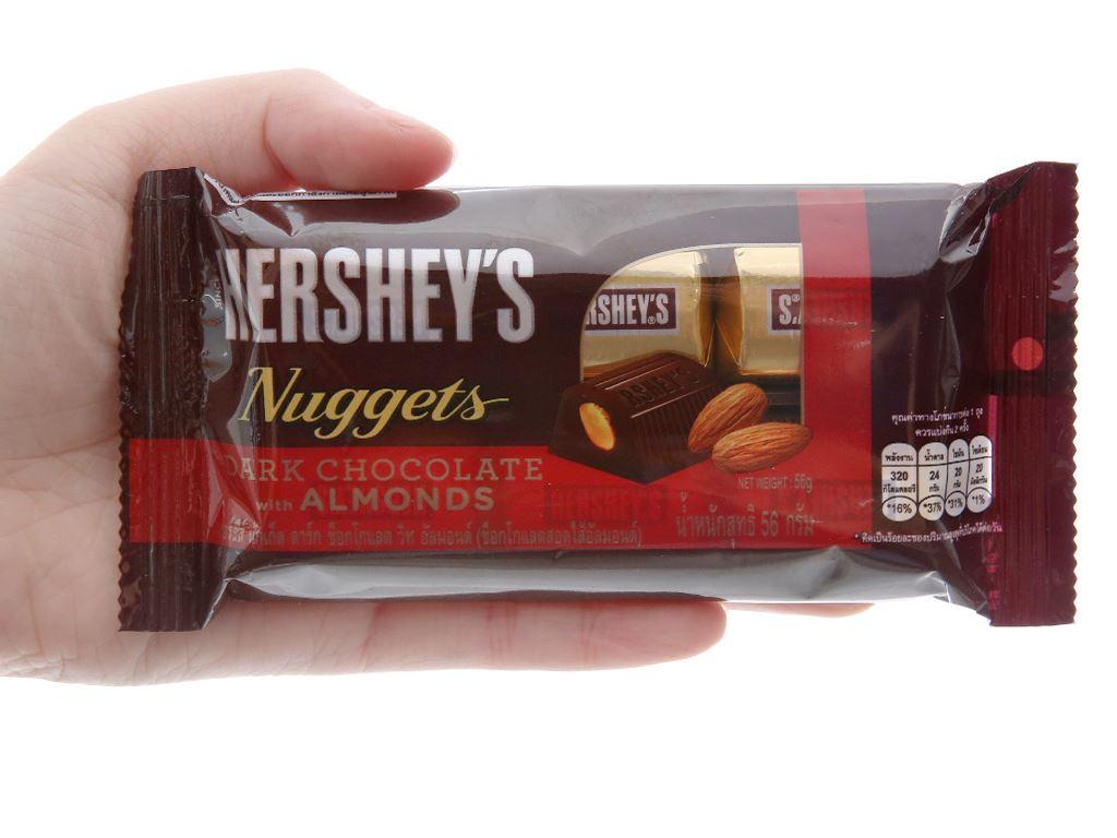 Socola đen Hershey's Nuggets gói 56g 5