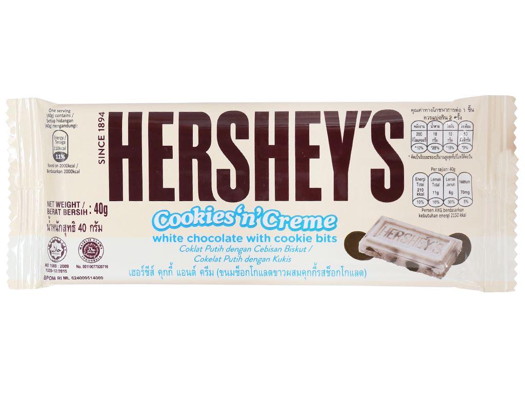 Socola trắng nhân bánh quy Hershey's gói 40g 1
