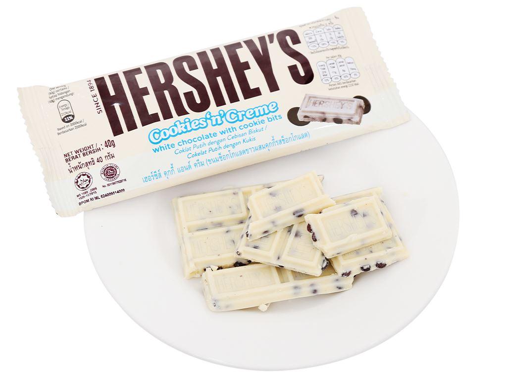 Socola trắng nhân bánh quy Hershey's gói 40g 5