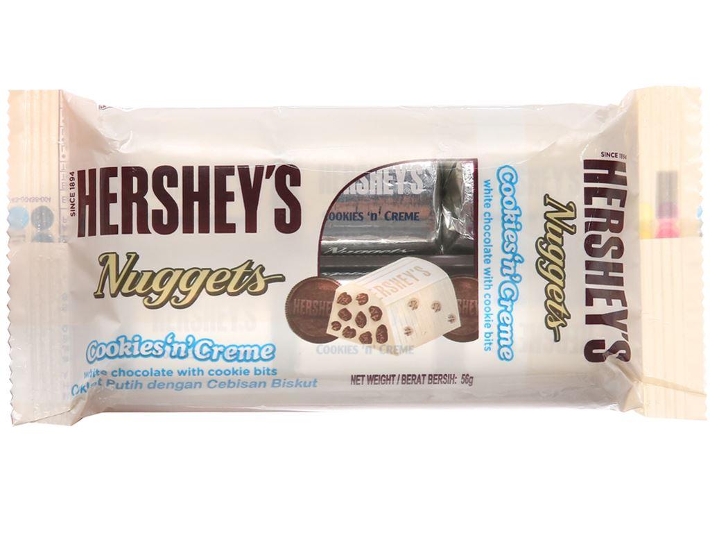 Socola trắng nhân bánh quy Hershey's Nuggets gói 56g 1