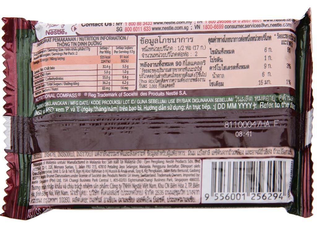 Bánh xốp phủ trà xanh hương đậu đỏ KitKat gói 35g 3