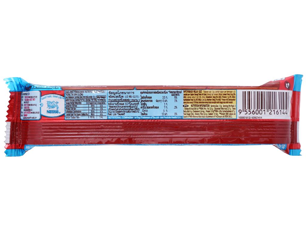 Bánh xốp phủ socola KitKat Chunky Cookies & Cream thanh 38g 2