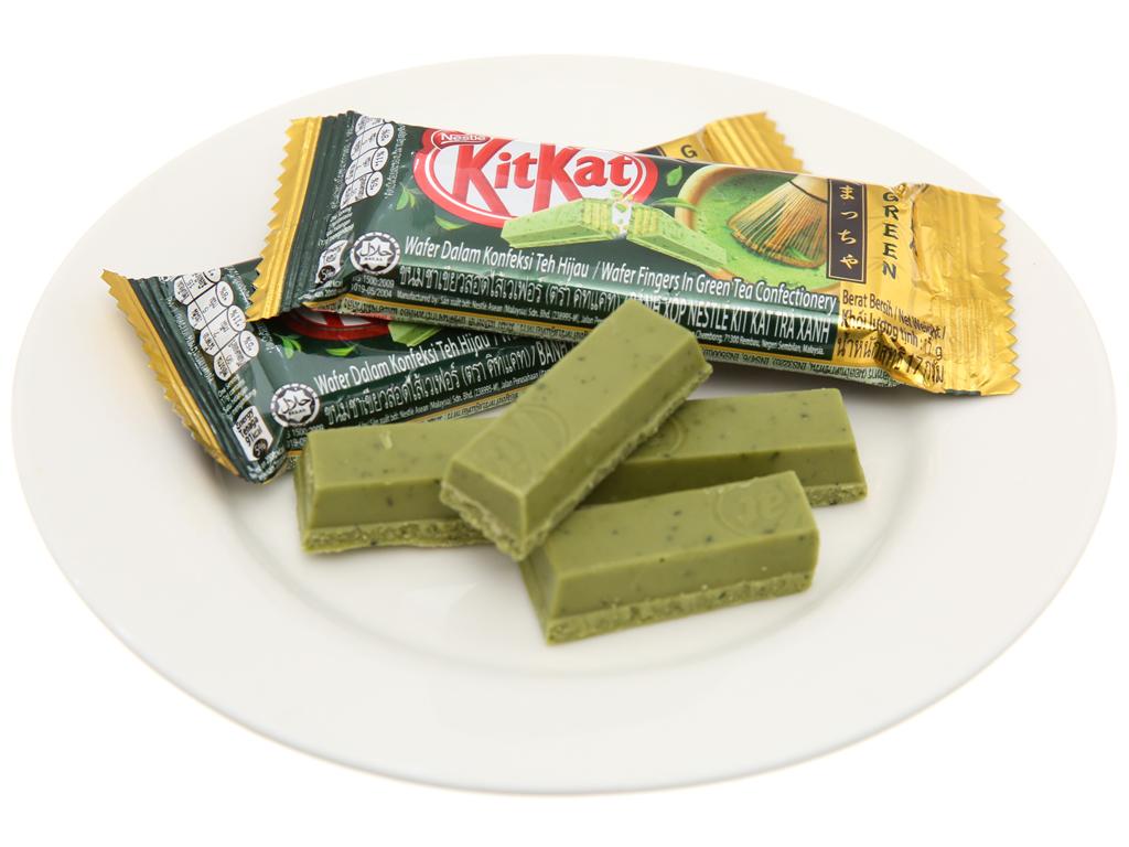 Gói 8 thanh bánh xốp phủ trà xanh KitKat 17g 4