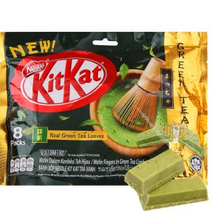 Gói 8 thanh bánh xốp phủ trà xanh KitKat 17g