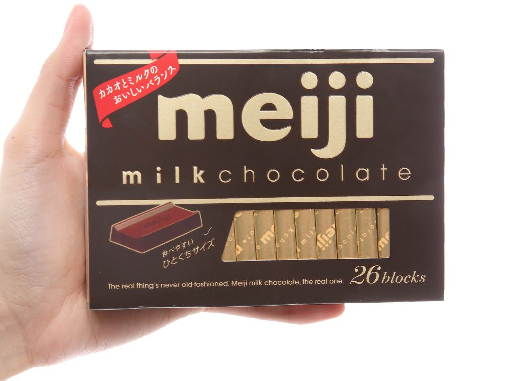 Socola sữa Meiji hộp 120g 4