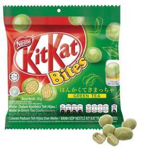 Bánh xốp phủ trà xanh KitKat Bites gói 30g