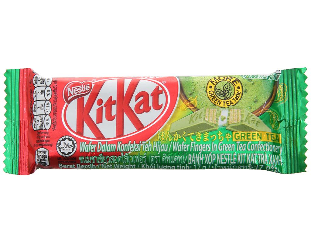 Bánh xốp phủ trà xanh KitKat thanh 17g 1