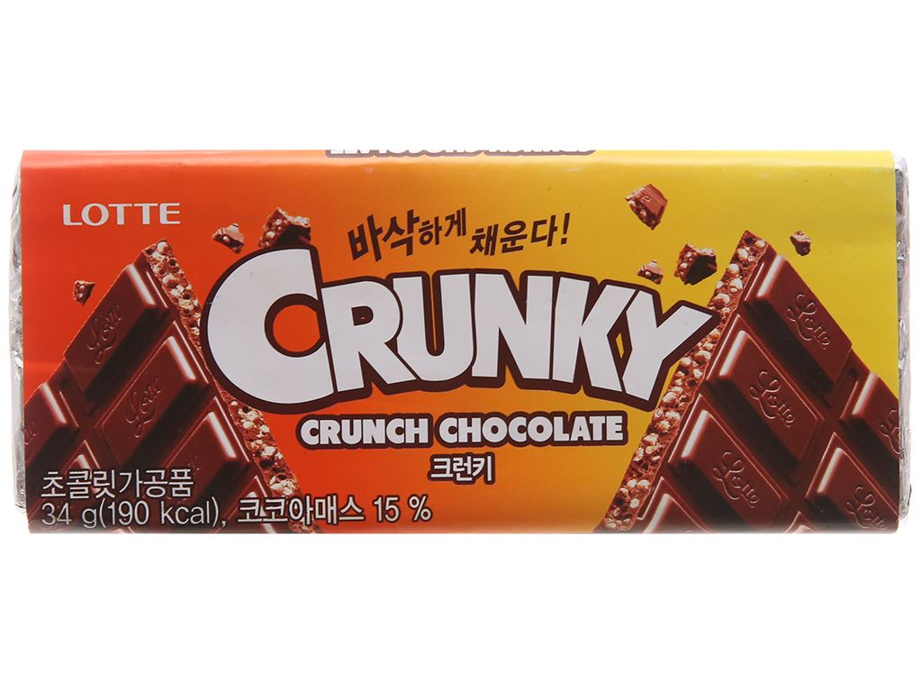 Socola Lotte Crunky thanh 34g 1
