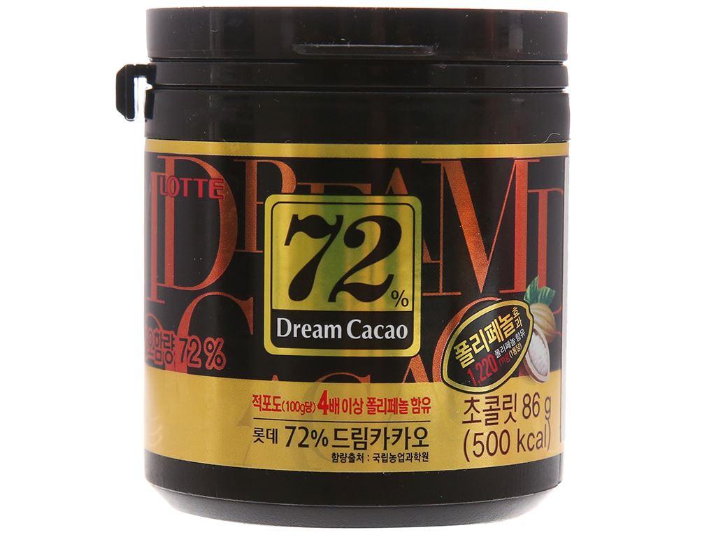 Socola đen Lotte Dream Cacao 72% hộp 86g 1