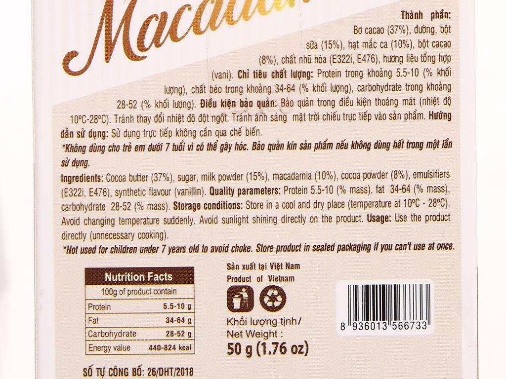Socola sữa nhân hạt macca Henk hộp 50g 3