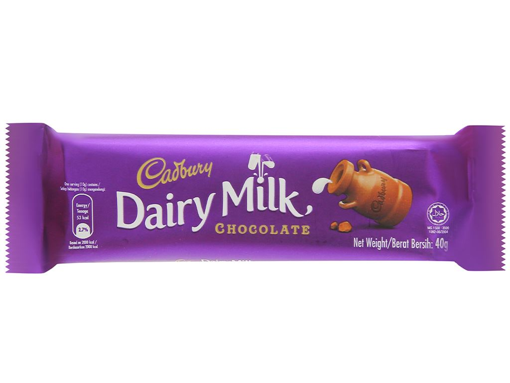Socola sữa Cadbury Dairy Milk thanh 40g 1