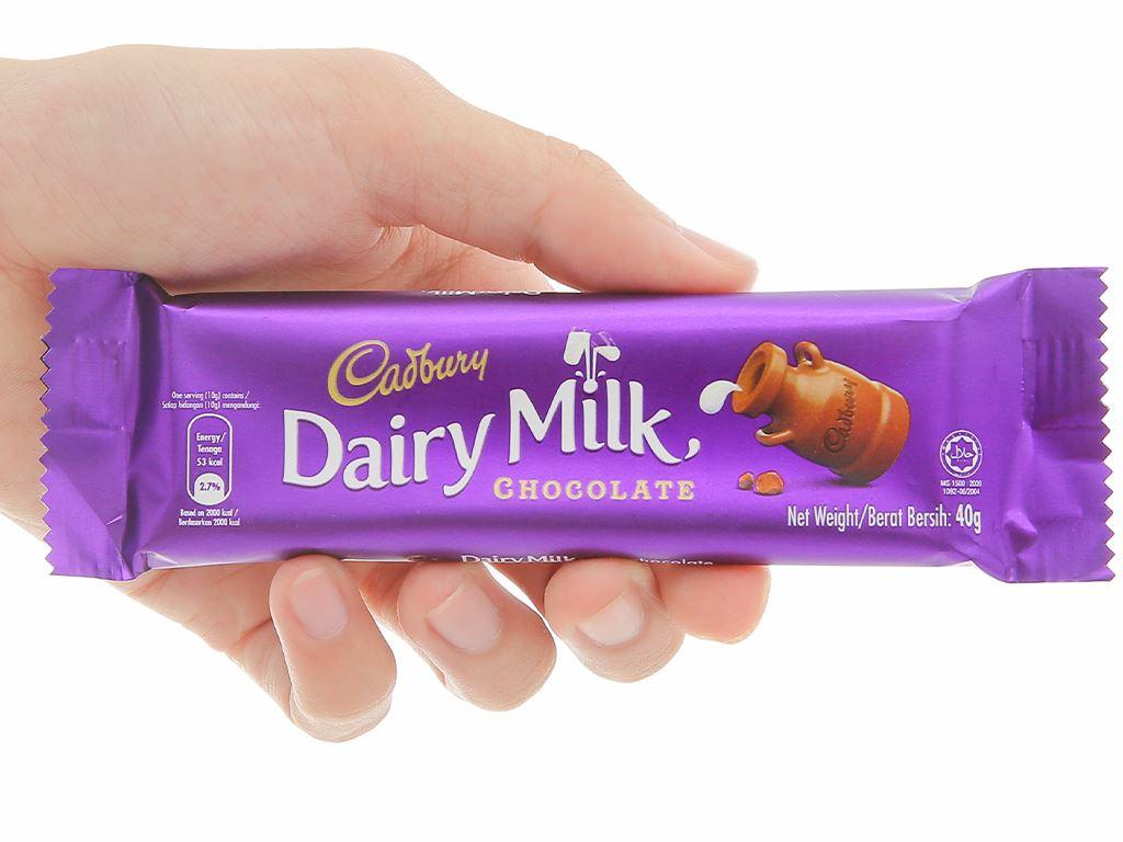 Socola sữa Cadbury Dairy Milk thanh 40g 4