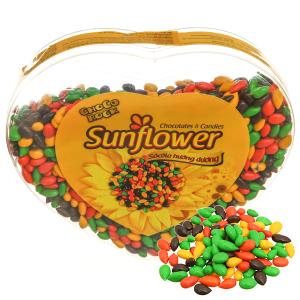 Kẹo socola nhân hạt hướng dương Choco Rock hộp 250g