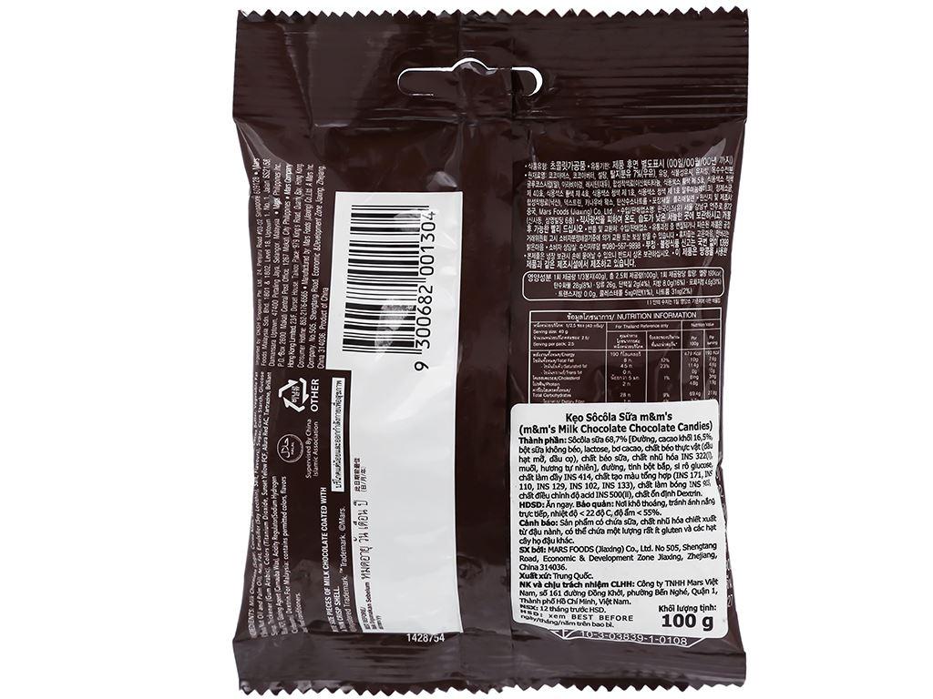 Kẹo socola sữa M&M's gói 100g 3
